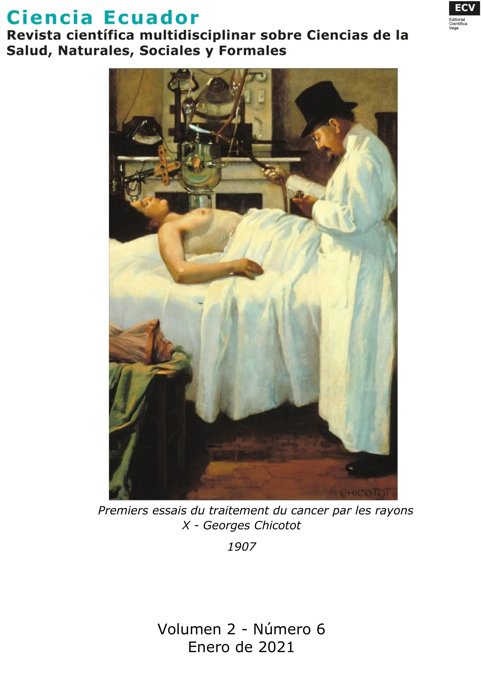 Primeros ensayos del tratamiento del cáncer por los rayos X. Imagen de dominio público